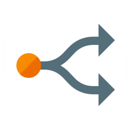 Graph Fork Icon 256x256