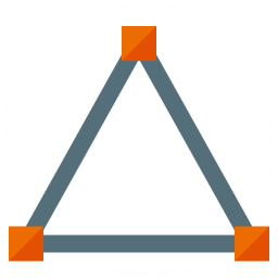 Vector Triangle Icon 256x256