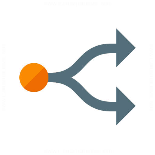 Graph Fork Icon