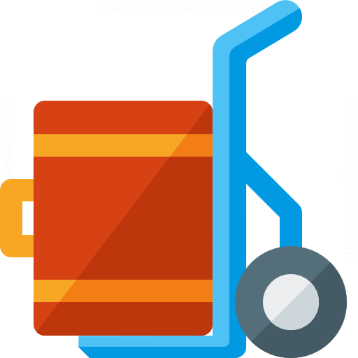 Hand Truck Suitcase Icon
