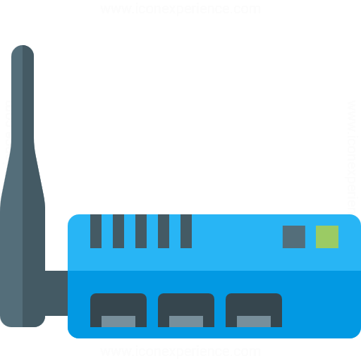 IconExperience » G-Collection » Wlan Router Icon