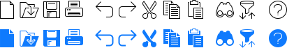 Toolbar Icons with consistent style