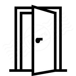 clipart open door