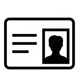 Iconexperience 187 i collection 187 id card icon