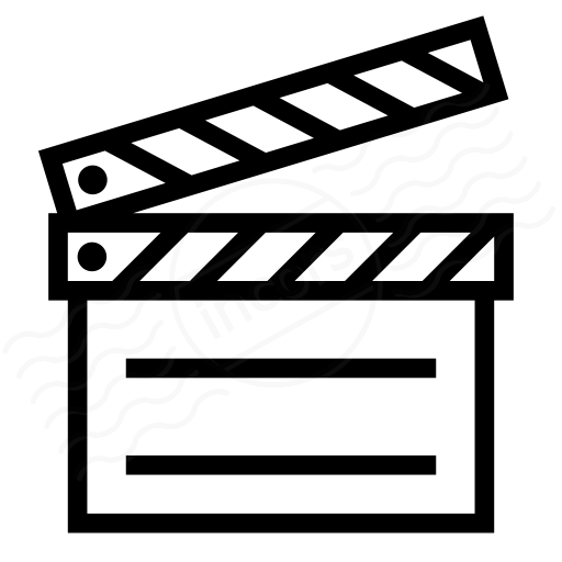 IconExperience » I Collection » Clapperboard Icon - 512x512 - png