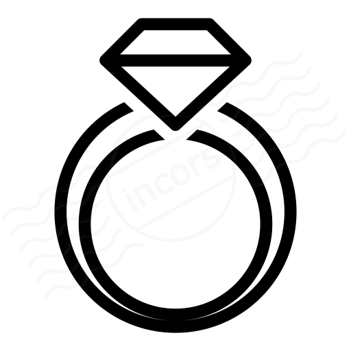 diamond ring vector icon - photo #2