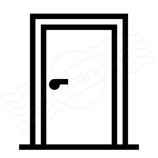 Open closed door clipart - Iconexperience 187 I Collection 187 Door Closed Icon
