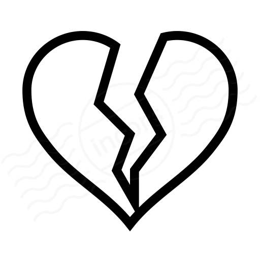 IconExperience » I-Collection » Heart Broken Icon A Coloring Page Of A Heart