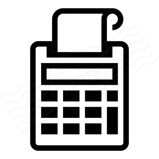 IconExperience » I-Collection » Print Calculator Icon