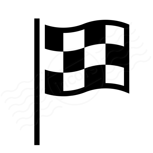 Racing Checkered Flag >> IconExperience » I-Collection » Signal Flag Checkered Icon