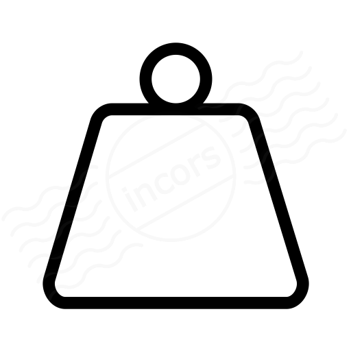 IconExperience » I-Collection » Weight Icon: https://www.iconexperience.com/i_collection/icons/?icon=weight
