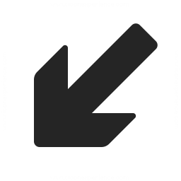 Arrow Down Left Icon 256x256