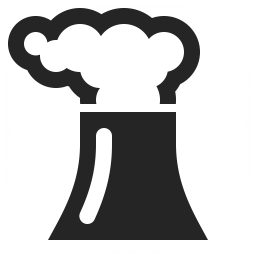 Cooling Tower Smoke Icon 256x256