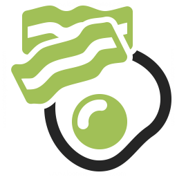 Fried Egg Bacon Icon 256x256