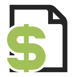 Invoice Dollar Icon 256x256