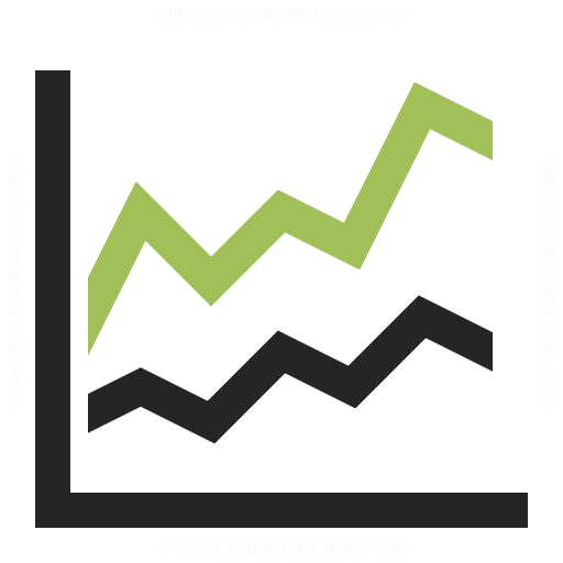 Line Art Icon : Chart line icon iconexperience professional icons o