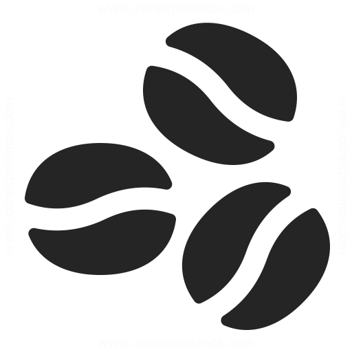 Coffee Bean Icon Vector images