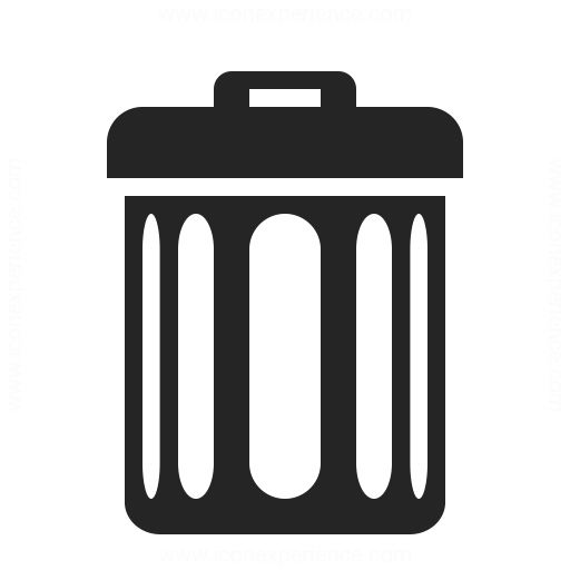 Garbage Can Icon & IconExperience - Professional Icons » O ...