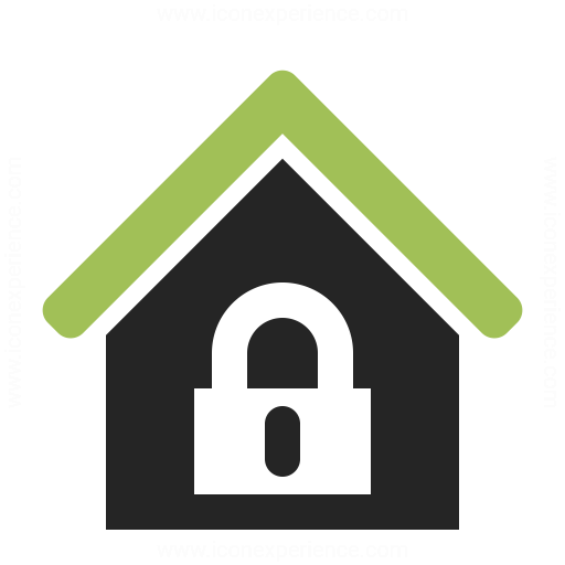 Home Lock Icon