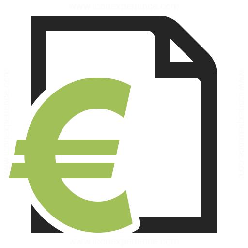 Invoice Euro Icon & IconExperience - Professional Icons ...