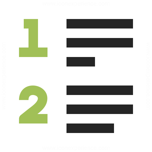 List Style Numbered Icon