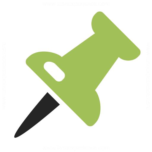 Thumbtack Icon 16x16 Pin 2 icon. 512x512