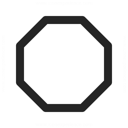 IconExperience » O-Collection » Shape Octagon Icon