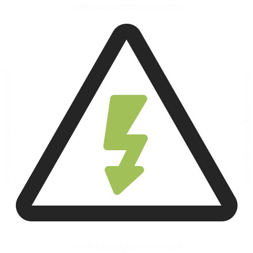 Sign Warning Voltage Icon
