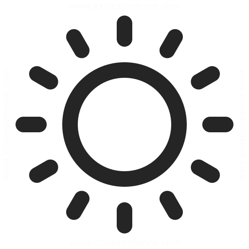 IconExperience » O-Collection » Sun Icon