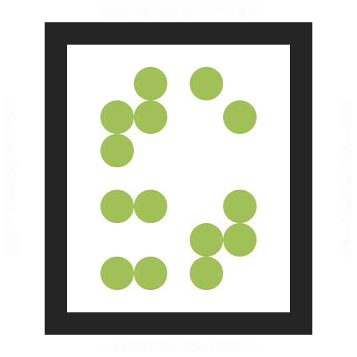 Text Braille Icon
