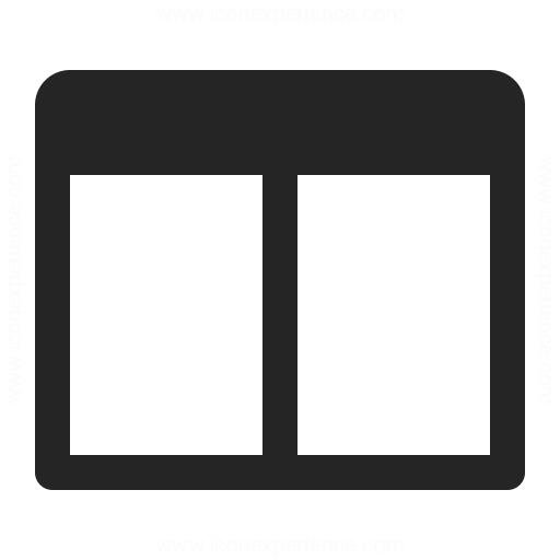 IconExperience » O-Collection » Window Split Hor Icon