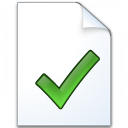 Document Check Icon 128x128