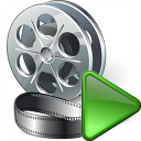 Movie Run Icon 128x128