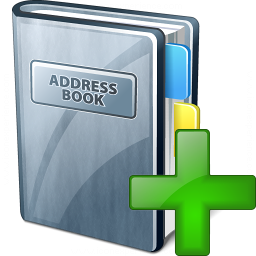 Address Book Add Icon 256x256