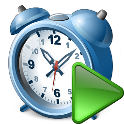 Alarmclock Run Icon 256x256