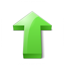 Arrow 2 Up Green Icon 256x256