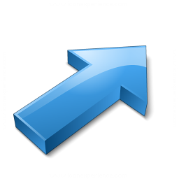 Arrow 2 Up Right Blue Icon 256x256