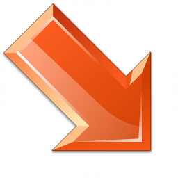 Arrow Down Right Red Icon 256x256
