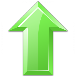 Arrow Up Green Icon 256x256