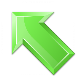 Arrow Up Left Green Icon 256x256