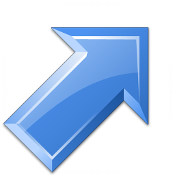 Arrow Up Right Blue Icon 256x256