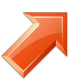 Arrow Up Right Red Icon 256x256