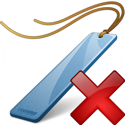 Bookmark Blue Delete Icon 256x256