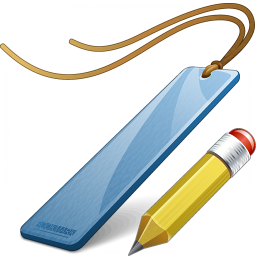 Bookmark Blue Edit Icon 256x256