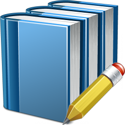 Books Blue Edit Icon 256x256