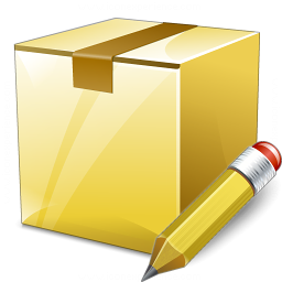 Box Closed Edit Icon 256x256