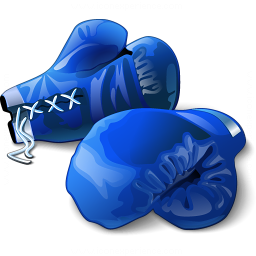 Boxing Gloves Blue Icon 256x256