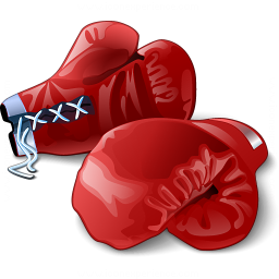 Boxing Gloves Red Icon 256x256