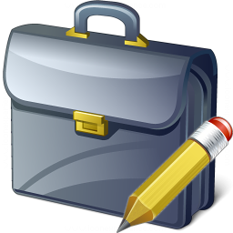 Briefcase Edit Icon 256x256