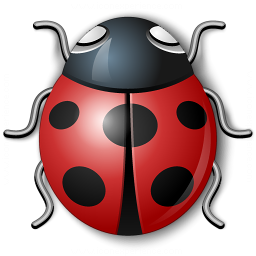 Bug Red Icon 256x256